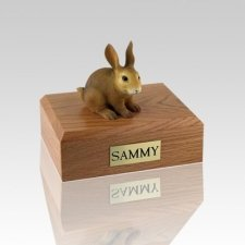 Brown Medium Rabbit Cremation Urn