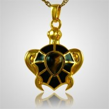 Brown Turtle Cremation Jewelry II
