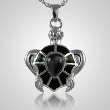 Brown Turtle Cremation Jewelry