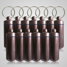 Brown Cremation Discount Keychains