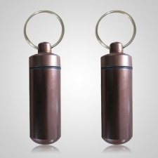 Brown Cremation Keychains