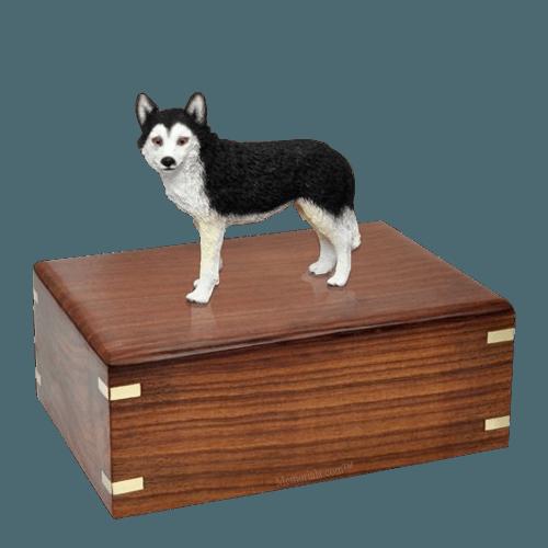 Brown Eyed Husky Large Doggy Urn