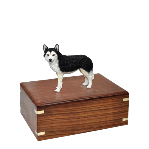 Brown Eyed Husky Small Doggy Urn