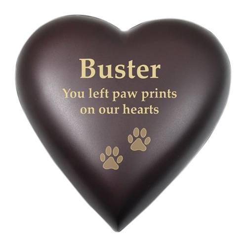 Brown Heart Pet Cremation Urn