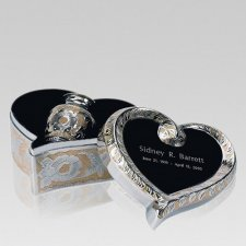 Brushed Gold Heart Keepsake Urn