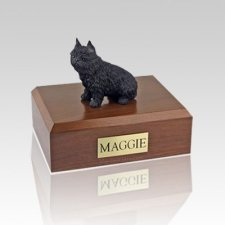 Brussels Griffon Black Large Dog Urn