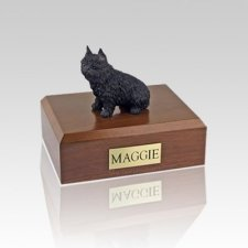 Brussels Griffon Black Medium Dog Urn