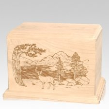 Buck Companion Maple Wood Urn