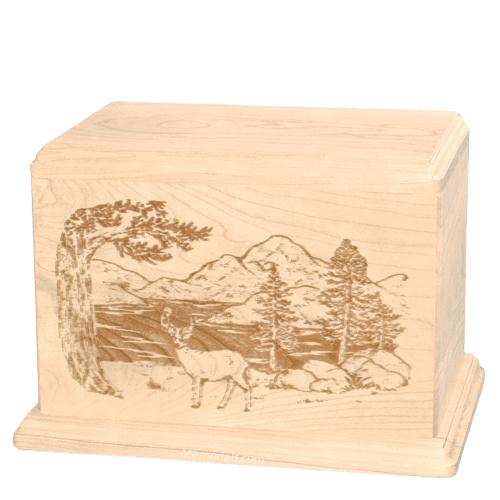 Buck Companion Maple Wood Urn
