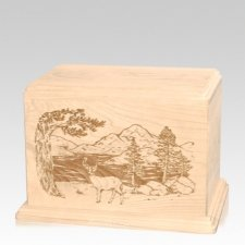 Buck Individual Maple Wood Urn