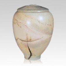 Buff Ceramic Pet Cremation Urn