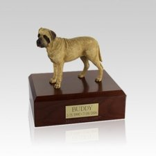 Bull Mastiff Standing Small Dog Urn