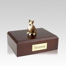 Bull Terrier Brindle Medium Dog Urn