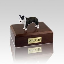 Bull Terrier Brindle Standing Medium Dog Urn
