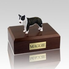 Bull Terrier Brindle Standing Dog Urns