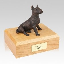 Bull Terrier Bronze Large Dog Urn