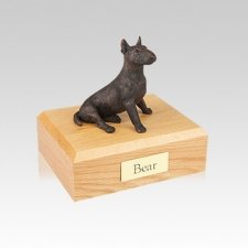 Bull Terrier Bronze Small Dog Urn