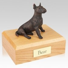 Bull Terrier Bronze X Large Dog Urn