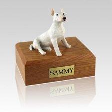 Bull Terrier White Large Dog Urn