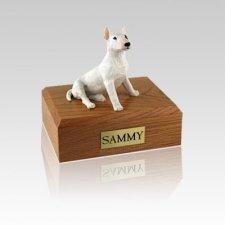 Bull Terrier White Small Dog Urn