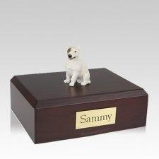 Bull Terrier White & Spot Large Dog Urn