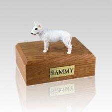 Bull Terrier White Standing Large Dog Urn