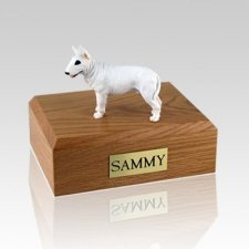 Bull Terrier White Standing Dog Urns