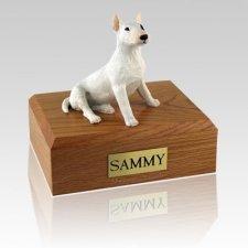 Bull Terrier White X Large Dog Urn