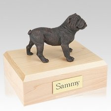 Bulldog Bronze Dog Urns