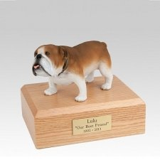 Bulldog Small Dog Urn