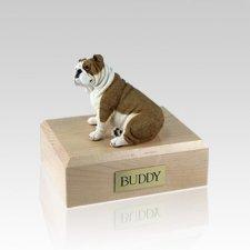 Bulldog Fawn Medium Dog Urn