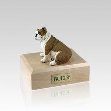 Bulldog Fawn Small Dog Urn