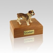 Bulldog Standing Small Dog Urn