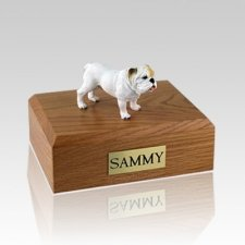 Bulldog White Standing Dog Urns