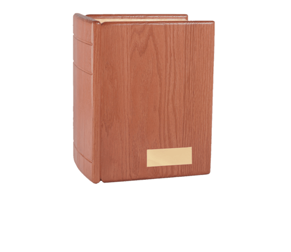 Burgundy Book Cremation Urn