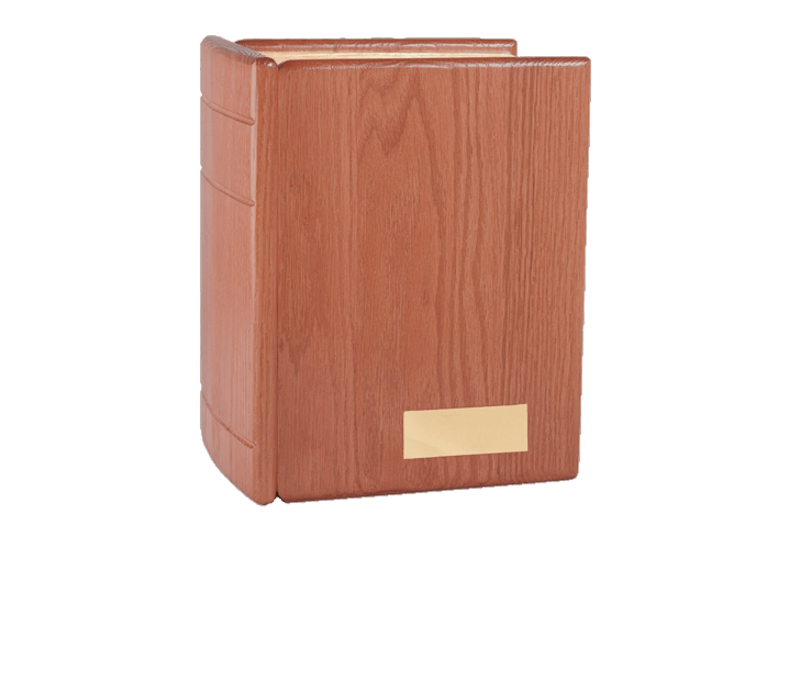 Burgundy Book Cremation Urn