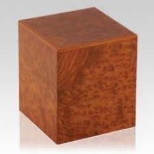Burl Elm Wood Cremation Urn