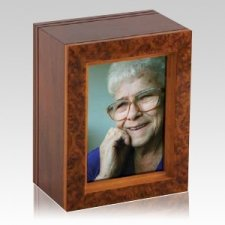 Burl Frame Wood Cremation Urn