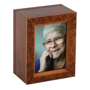 Burl Frame Wood Cremation Urn