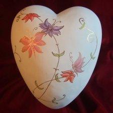 Butterflies Ceramic Heart Urn
