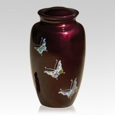 Butterflies To Heaven Cremation Urn