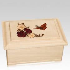 Butterfly Wood Cremation Urn