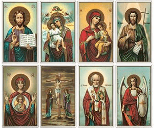 Byzantine Prayer Cards