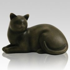 Sable Cozy Cat Cremation Urn