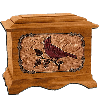 Cardinal Mahogany Cremation Urn For Two