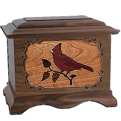Cardinal Walnut Cremation Urn For Two