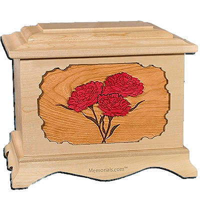 Carnation Maple Cremation Urn for Two