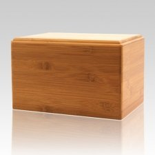 Bamboo Eternity Medium Wood Urn