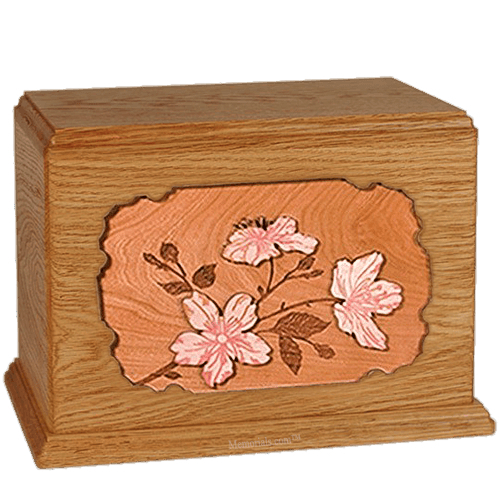 Cherry Blossom Mahogany Companion Urn