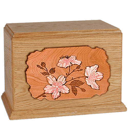 Cherry Blossom Oak Companion Urn